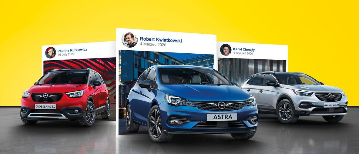Samochody osobowe Opel.