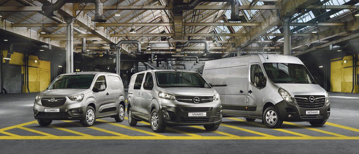 Samochody dostawcze Opel