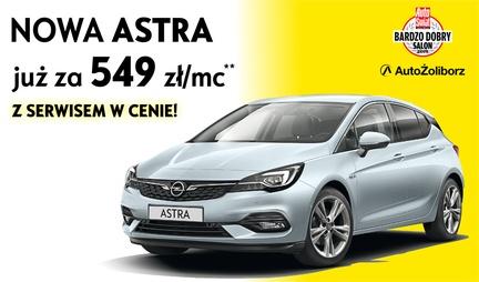 Nowa Astra już za 549 zł w leasingu konsumenckim z salonów Opel AutoŻoliborz w Warszawie, Ząbkach i Piasecznie.
