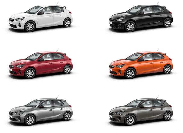 Nowy Opel Corsa F - kolory