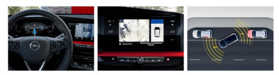 Systemy wspierające kierowce w oplu Mokka