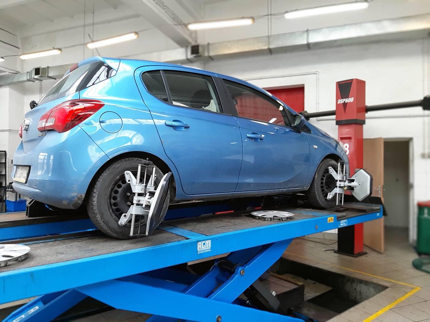 Geometria zawieszenia Opel Corsa