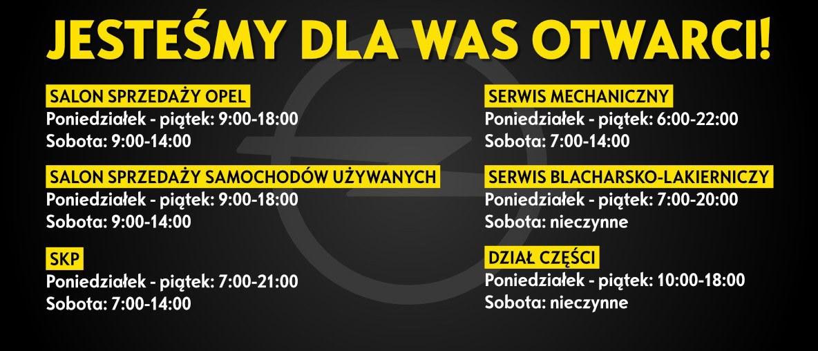 Godziny pracy Opel BSP Łódź