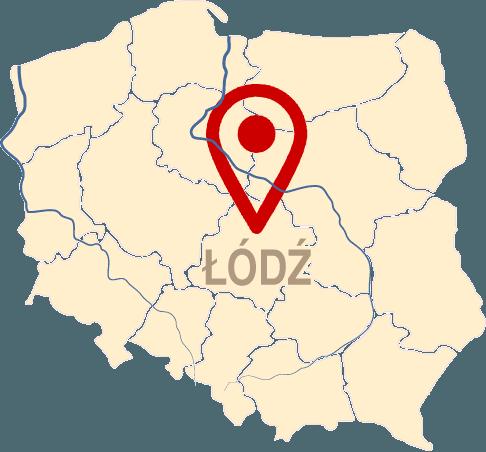Łódź, mapa Polski