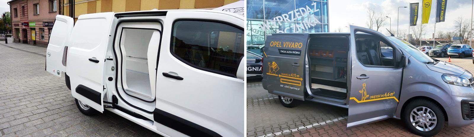 Zabudowy dostawczych Opli: izoterma, regały Opel Vivaro C