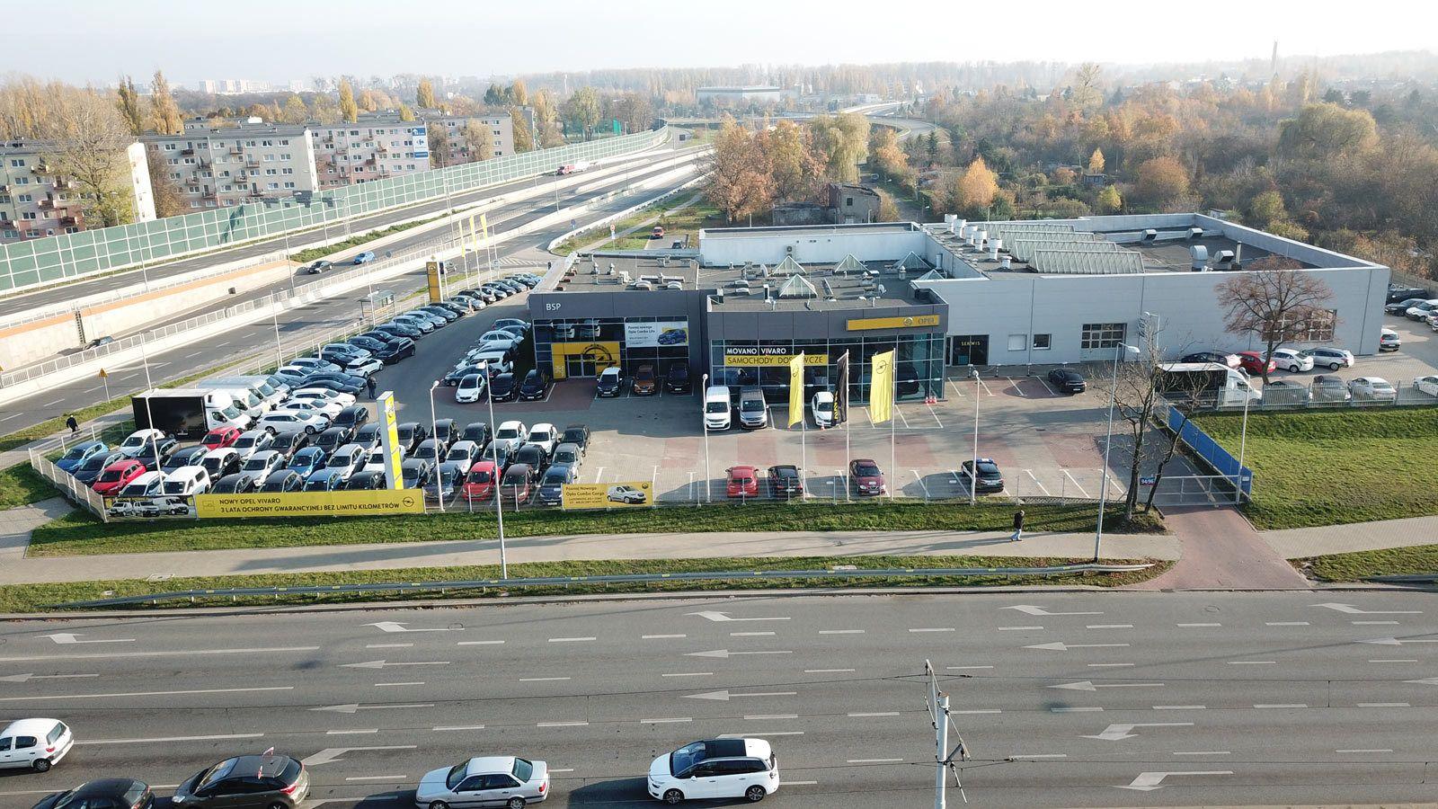 Opel Łódź Pabianicka lokalizacja budynek