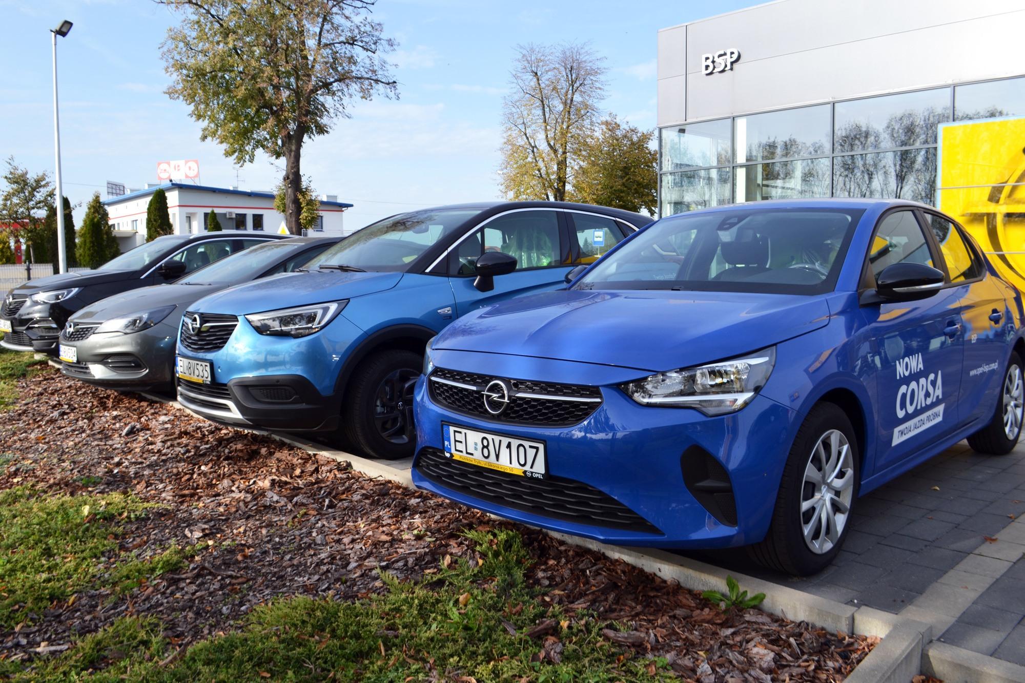 Samochody demonstracyjne Opel Corsa Crossland, salon BSP Piotrków
