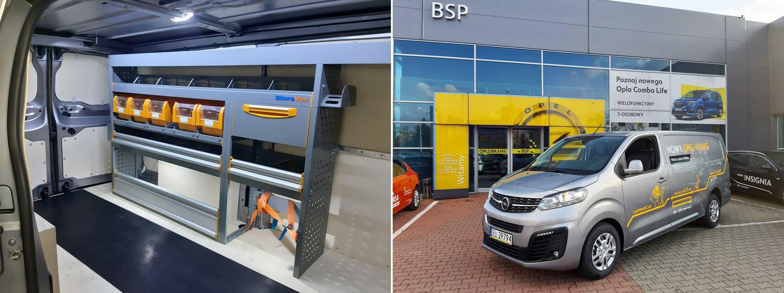 Samochody dostawcze Opel dmc 3,5 t, zabudowa półki Vivaro C