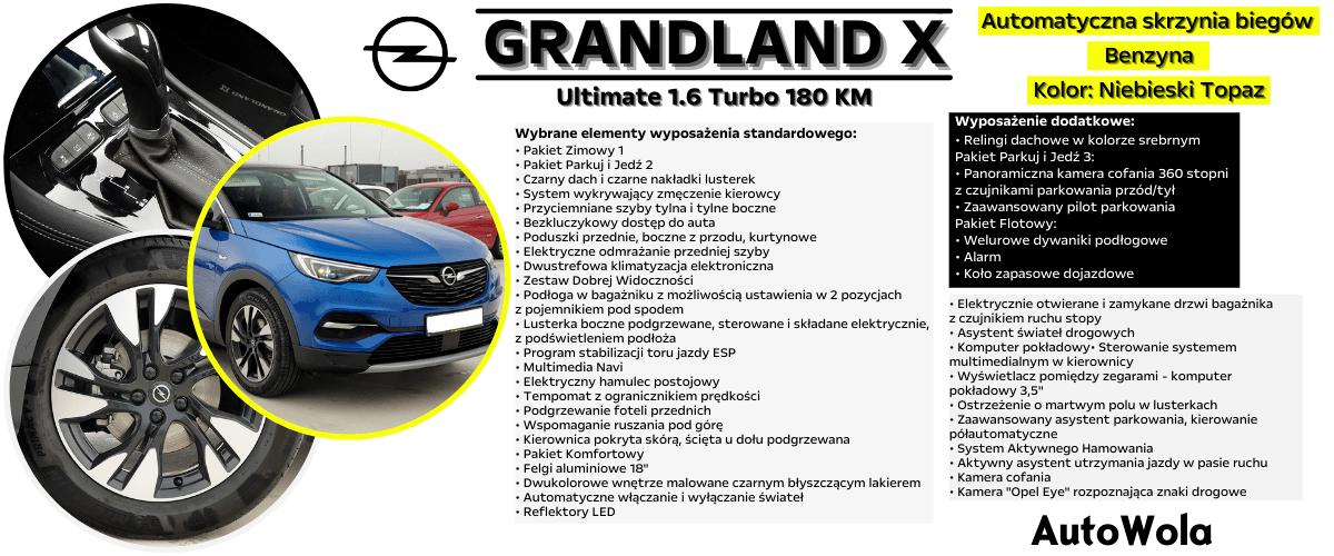 Grandland- Niebieski Topaz