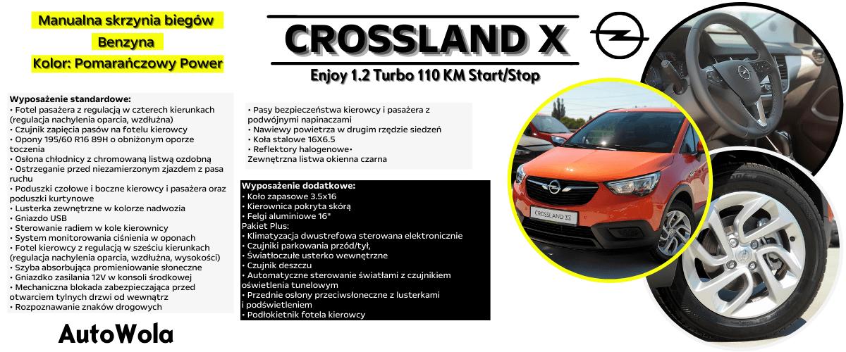 Crossland X- Pomarańczowy Power