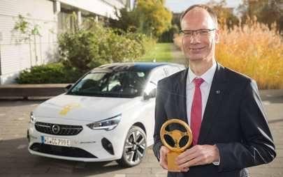 """Elektryzująca wiadomość: nowy Opel Corsa-e nagrodzony """"Złotą Kierownicą 2020"""""""