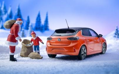 Nowy Opel Corsa-e rozświetla Święta Bożego Narodzenia