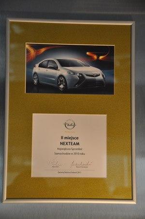 II miejsce Największa Sprzedaż Samochodów w 2010 - Opel Poland