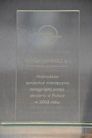 Największa sprzedaż miesięczna osiągnięta przez dealera w Polsce w 2003 - Opel